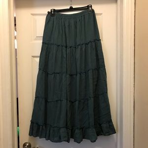 Dresses & Skirts - Blue One Size Fits All Peasant Hippie Skirt